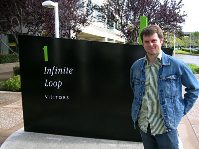 Picture of James outside Apple