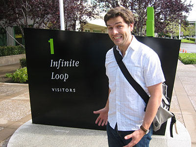 Picture of Jones outside Apple