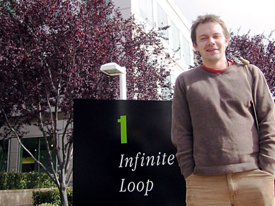 Picture of Tom outside Apple