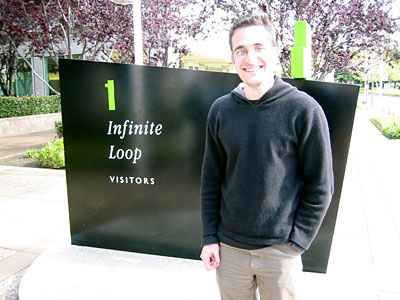 Picture of Webb outside Apple