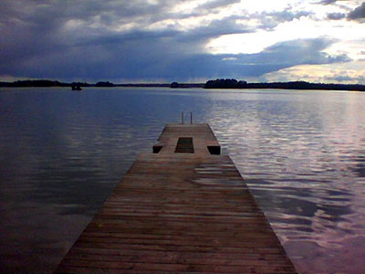 A pier at a business retreat near Helsinki.